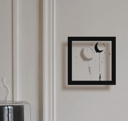 Sticker mural cadre – La lune