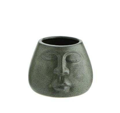 Cache-pot - Visage vert S
