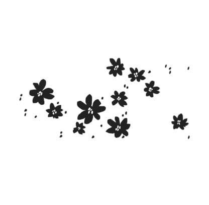 Sticker mural – Les fleurettes