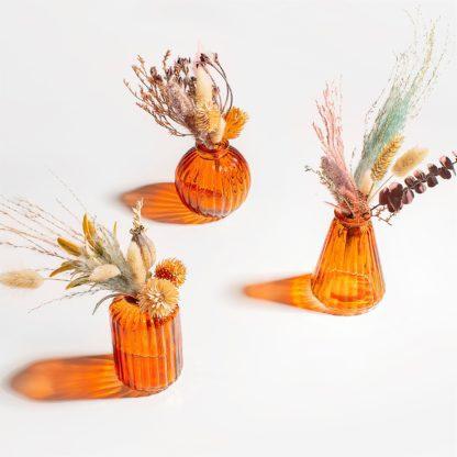 Vase en verre mini - Ambre