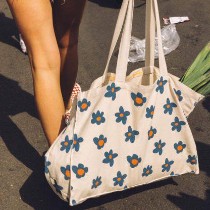 Cabas - Fleurs bleues