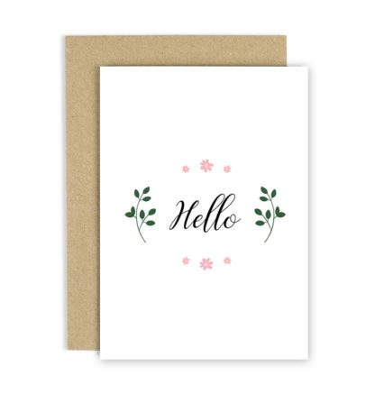 Carte de voeux – Hello