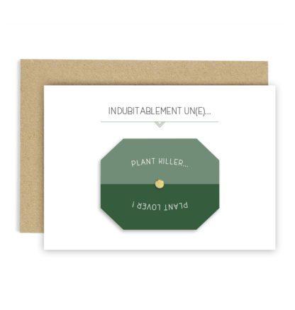 Carte de voeux – Plant Lover/Killer