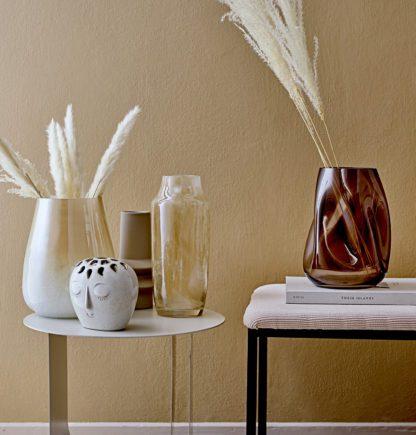 Vase en verre - Marron