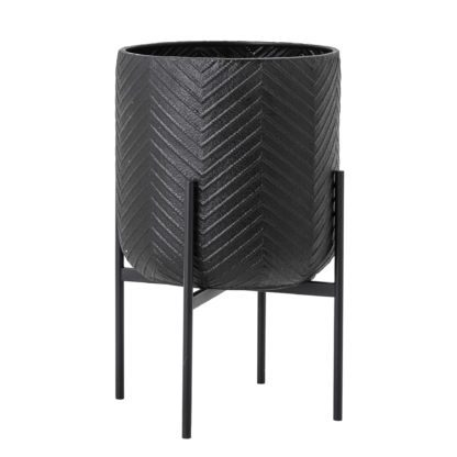 Cache-pot métal – Noir XL