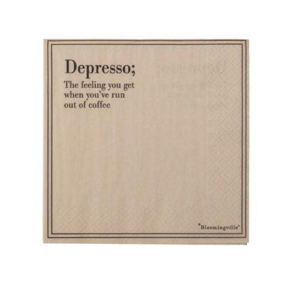 Serviettes - Depresso
