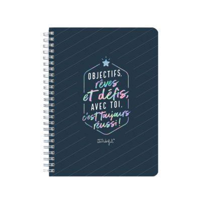 Cahier - Objectifs, rêves et défis
