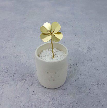 Trèfle en laiton - Doré