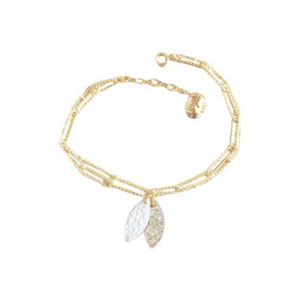Bracelet Lempa – Blanc & Paillettes