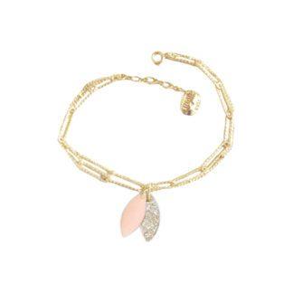 Bracelet Lempa – Nude & Paillettes